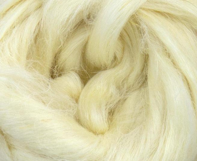 Hemp Combed Top Roving Undyed Bleached Fibre 50g
