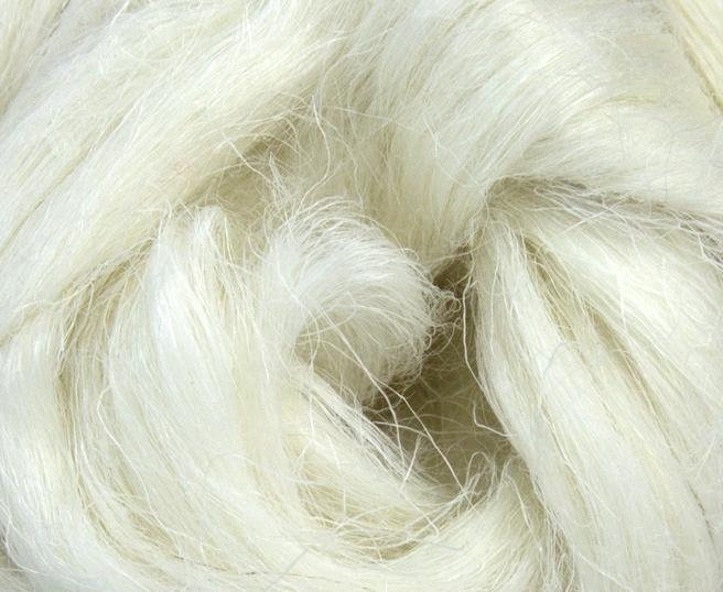 Bleached Flax Linen Combed Top Roving Undyed Fibre 50g