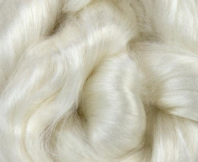 Rose Combed Top Roving Undyed Fibre 50g