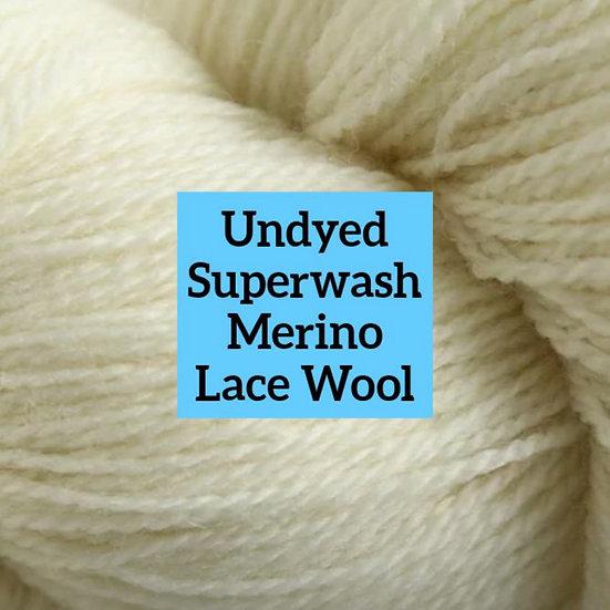 Undyed Superwash Merino Lace Wool