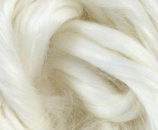 Ramie Combed Top Roving Undyed Fibre 50
