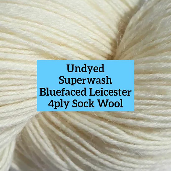 Undyed Superwash British Bluefaced Leicester 4ply Wool