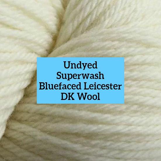 Undyed Superwash British Bluefaced Leicester DK Wool