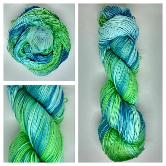 Tropical Seas available in 4ply, DK, Aran, Sock in Wool and Cotton