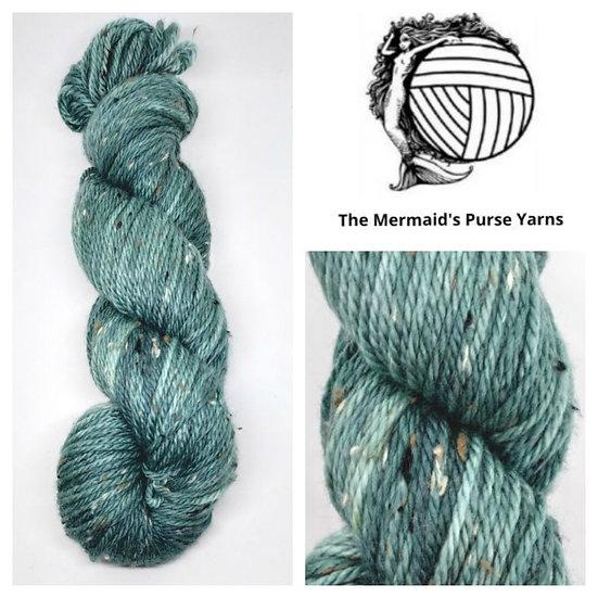 Green Eyes on Donegal Nep Merino Wool Double Knitting Yarn