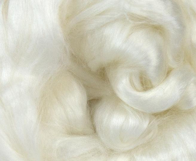 Seacell Combed Top Roving Undyed Bleached Fibre 50g