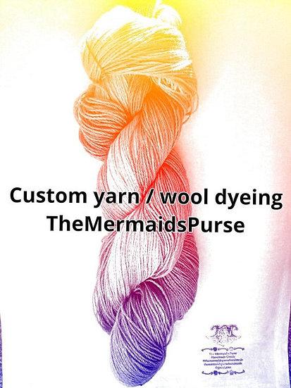 Custom Dyeing 100g skeins and 25g minis in 4ply,DK,Aran,Sock in Wool / Cotton