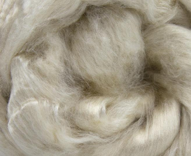 Mint Combed Top Roving Undyed Fibre 50