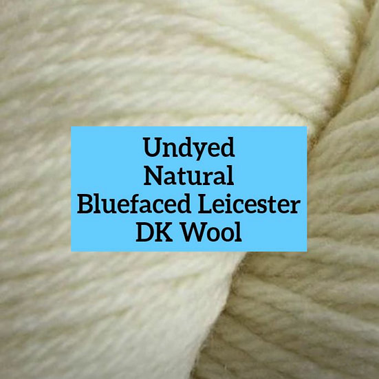 Undyed Natural British Bluefaced Leicester DK Wool
