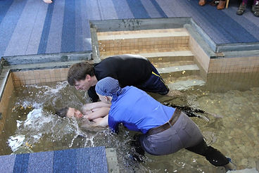 Baptism in pool at St Andrew's Goldsworth Park