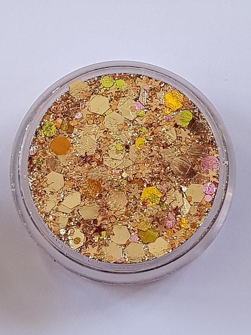 Golden Copper Rose Essential Glitter Balm
