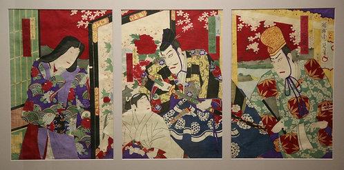 Kunichika, Toyohara (1835-1900) Kabuki Actors from 'The Flower of Edo'