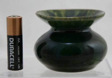 "American Majolica Miniature 2"" Urn ? Wannopee/Chelsea Keramics ? c1900"