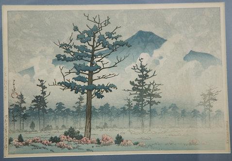 $OLD TY! Kawase Hasui (1883-1957) 'Senjo Plain, Nikko' RARE 1st Edition d1937