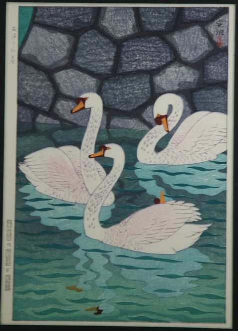 Kasamatsu Shiro (1898-1991) 'Spring at the Moat'