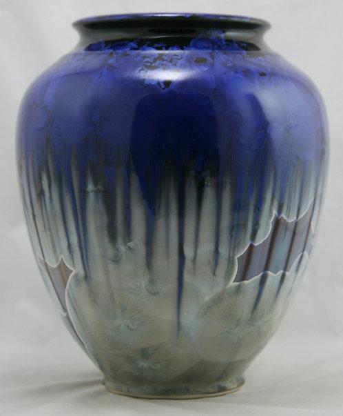 "Bill Campbell 10.5"" Crystalline Pottery Vase d2017 Mint"