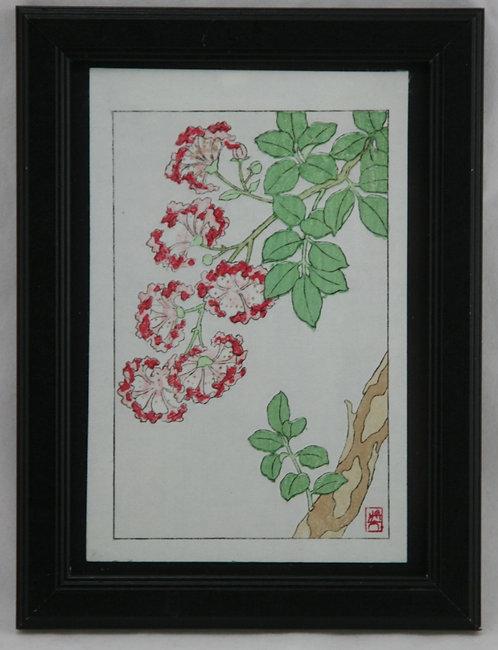Kawarazaki Shodo (1889-1973) 'Sarusuberi' or 'Crape Myrtle'