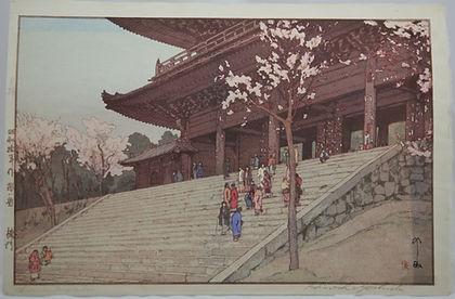 Hiroshi Yoshida 'Chion in Temple Gate'