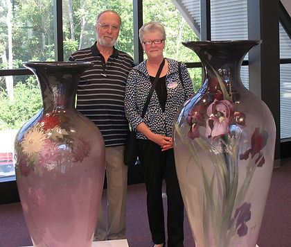 Don Gill and Patti Bourgeois at the Zanesville Pottery Lovers Banquet at the Zanesville Museum of Art