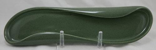 Russel Wright American Modern MCM Celery Tray in Cedar Green Glaze