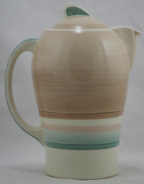 Susie Cooper Art Deco Kestrel Teapot in Wedding Band Pattern c1940