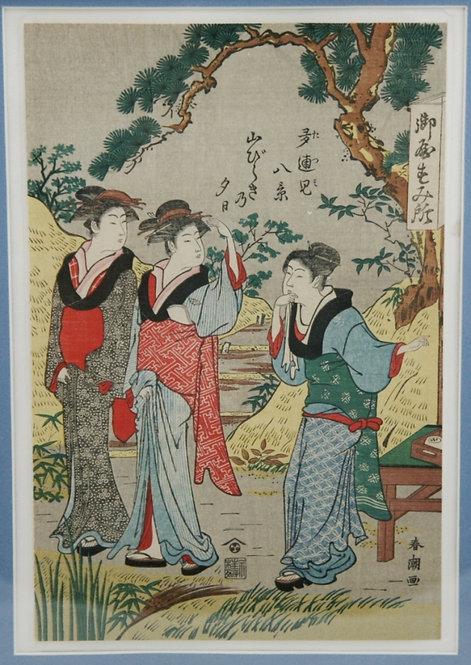 Katsukawa Shuncho (1780-1807)  'Beauties at a Tea House'