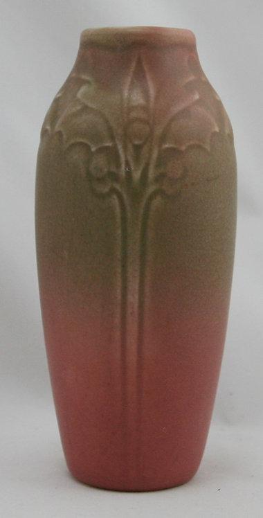 """Rookwood Production 6.5"""" Vase Sara Sax Design In Green Over Rose Glaze 1918 Mint"""