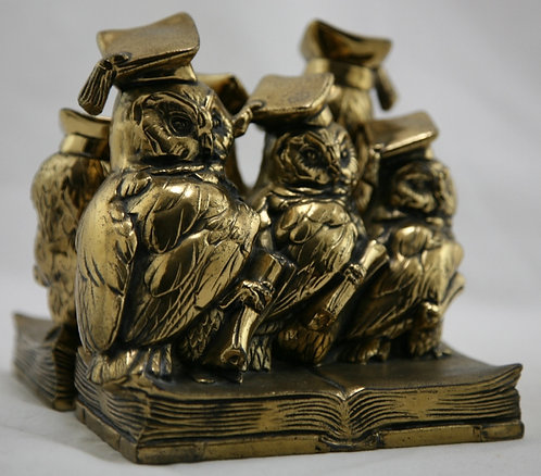 Jennings Brothers 'Student Owls' Bookends 1928