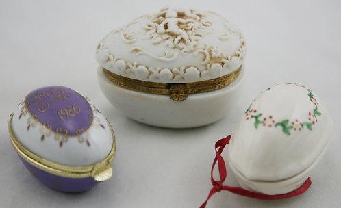 Egg Trinket Boxes: Lefton Angels, Royal Orleans Easter Box, Mormon Handicrafts