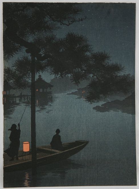 Shoda, Koho (1871-1946) The Night Scene Series: 'Lake Biwa' #1247