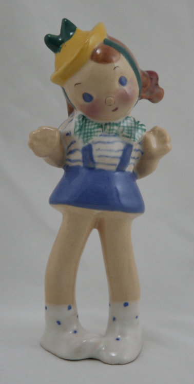 "Brayton Laguna Figural ""Ellen"" In Colorful Glazes So Sweet c1940s"
