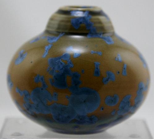 "Bill Campbell 3.5"" Crystalline Pottery Vase 'Collectors Corner' Series d2008"