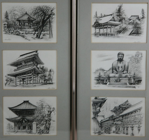 Akira Sato (1930-2002) Famous Temples and Shrines c1960