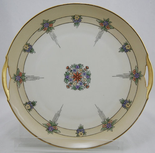 KPM Porcelain China-Painted Tray in A&C/Art Deco Decoration c1920-30