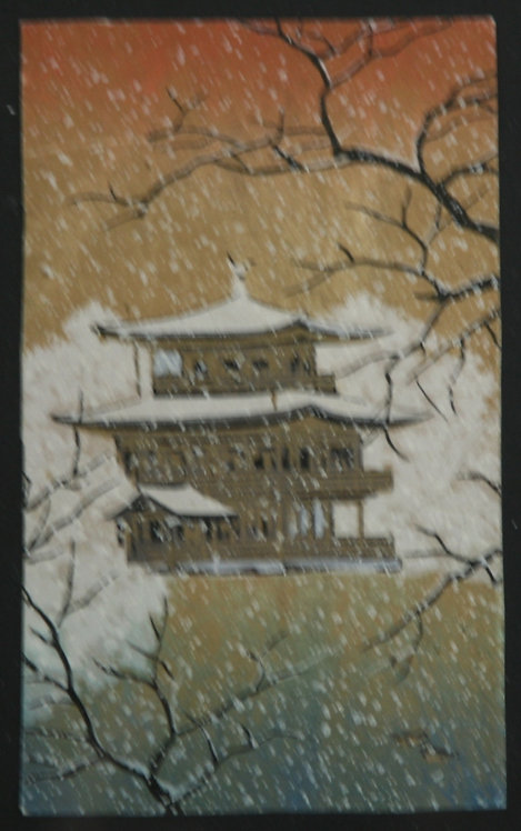 Unread Artist 'Kinkakuji Temple in Snow'