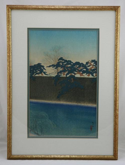 Kawatsura Yoshio (1880-1963) Also known as Negoro Raizan 'Hanzomon Moat'