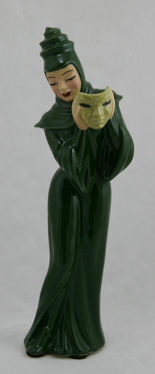 Ceramic Art Studio Mid-Century 'Tragedy' Figural with Mask