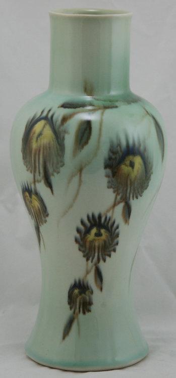 Francis Joseph Von Tury Porcelain Vase W/Blossoms Binns' Medalist c1940s Mint