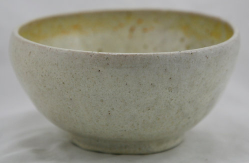Studio Pottery High-Sided Bowl In Organic Oyster Spotted Glazes Signed and d1926