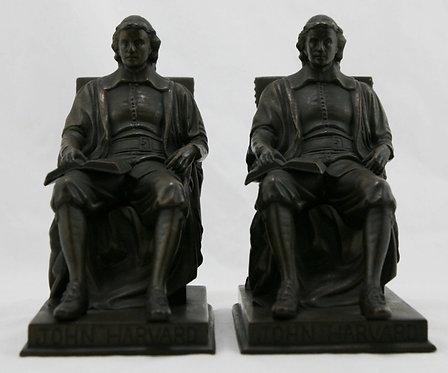 Jennings Brothers 'John Harvard' Bookends by Daniel C. French JB2654 c1928
