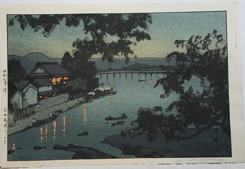 Hiroshi Yoshida (1876-1950)  'Chikugo River'