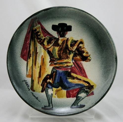Fletcher Martin Mid-Century Stonelain Pottery AAA Of NYC 'Toreador' Charger