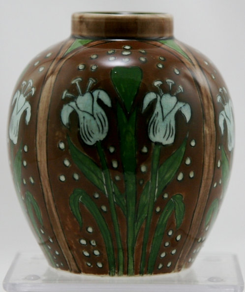 "Royal Bonn Old Dutch Tulips Art Nouveau 4.5"" Vase c1890-1920 Mint"