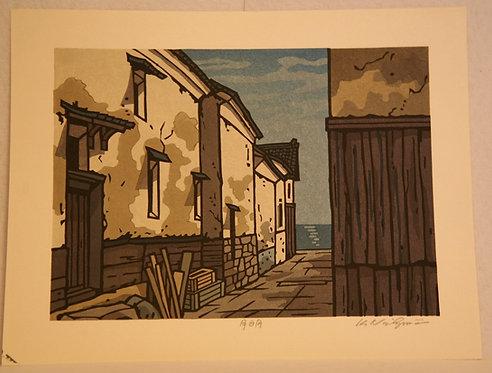 Katsuyuki Nishijima (1945-) 'Warehouses in Tomo in Hiroshima'