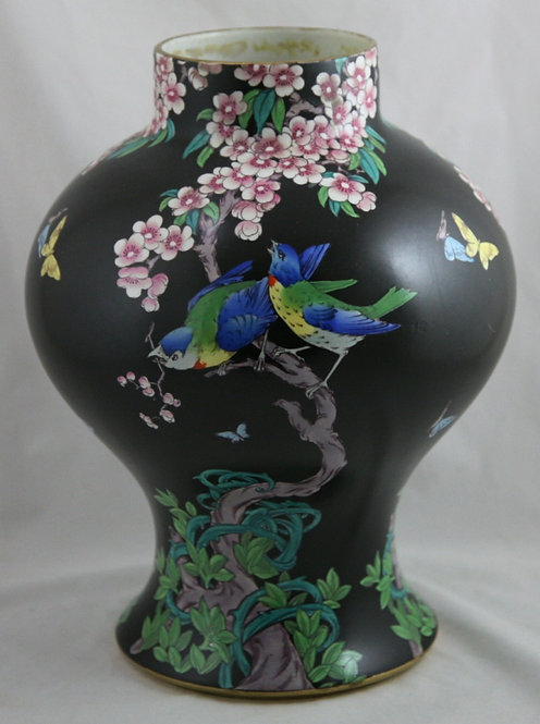 Whieldon Ware 'Picardy' Pattern Vase by F. Winkle & Co Ltd, England c1908-25