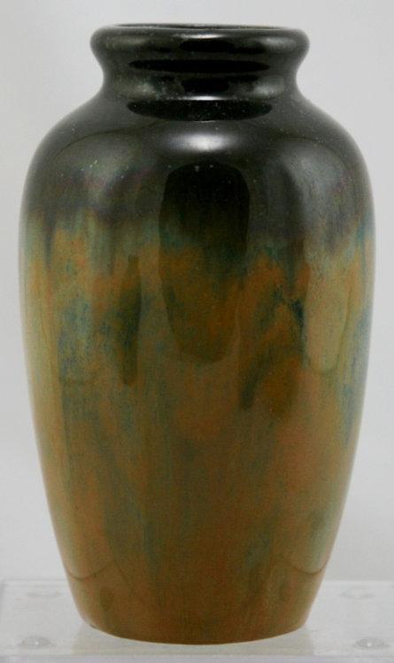 "Fulper 6"" Original Lamp Base/Vase c1917-34 In Cat's Eye Flambe Glazes Mint F259"