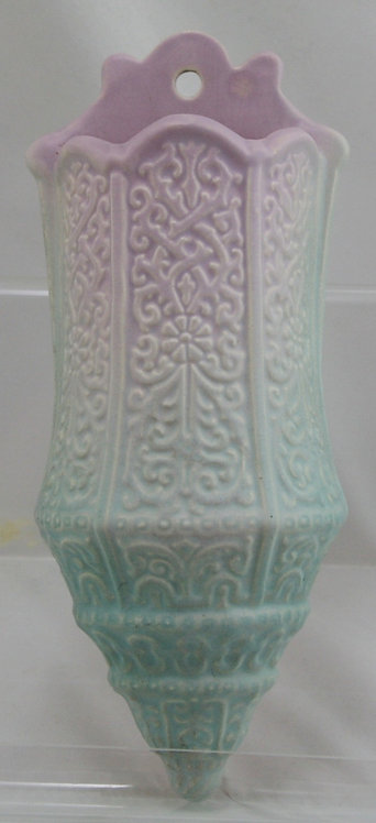 "Weller Lavonia 10.5"" Art Deco Wallpocket Gorgeous Pastel Colors"