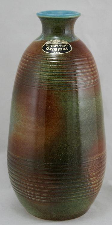 """Dryden Pottery 11"""" Vase by  James 'Kimbo' Dryden d1978"""