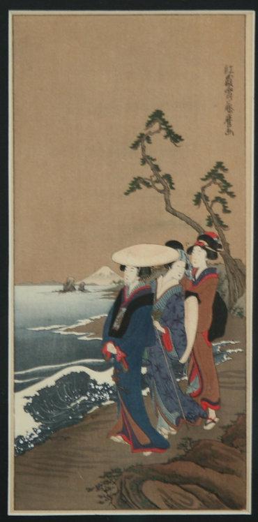 Kitagawa Fujimaro (1790-1850) 'Beauties Along the Coast'