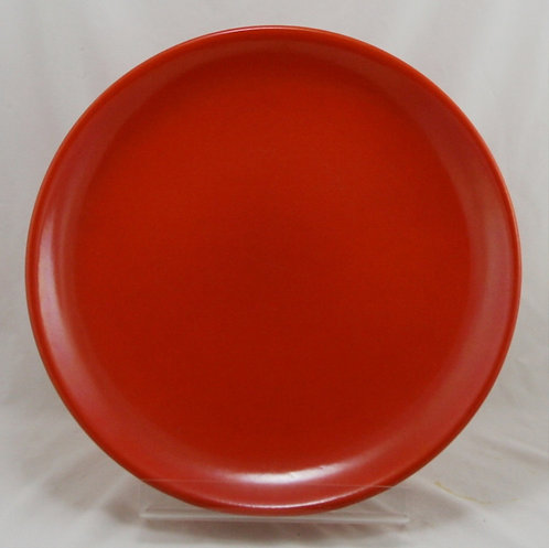 "Gladding McBean 14"" Pottery Charger in Orange Glazes Original Condition"